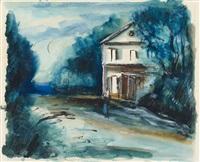 maison au bord de la route by maurice de vlaminck