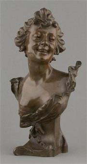 jeune femme riant by l. leroux