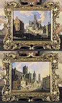gezicht op de kuip van gent gezicht op de sint baafskathedraal koorzijde te gent 2 works by augustus wijnantz