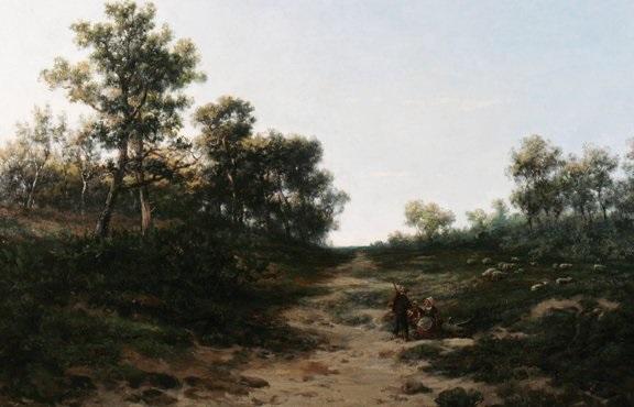 pastoral scene by r e damoye