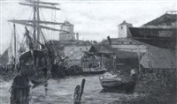 dry docks, venice by willis seaver adams