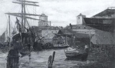 dry docks venice by willis seaver adams