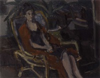 titia in a chair by johan buning