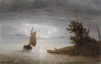 marine au lever de lune by desire lesij
