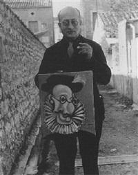 Portrait de Sabartès présentant son portrait en...