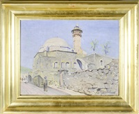 tiberias. view of the mosque by ludwig blum
