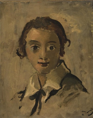 portrait of a girl by andré derain