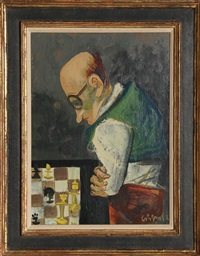 chess player by william gropper