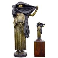 bronze sculpture la femme au voile by jean-léon gérôme