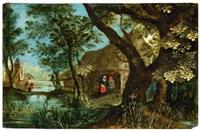 flusslandschaft mit einer dörflichen siedlung und figurenstaffage by anonymous-flemish (17)