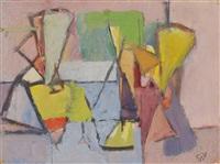 composition (intérieur avec personnages) by geer van velde