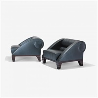 aries lounge chairs model 51510 (pair) by leon krier