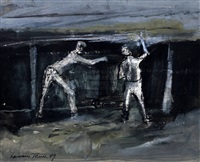 two miners in the pit by norman town