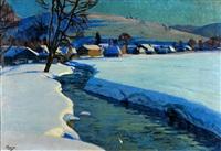 snowy landscape by jakob glasner