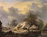 de schuur met het rieten dak by albert eduard moerman