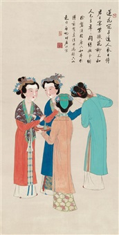 four beauties by xu panxi and qi gong