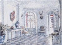 an interior of château de la ronce by georges aufray