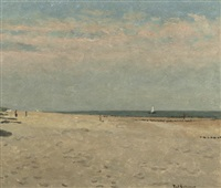 a quiet day on the beach near domburg by paul arntzenius