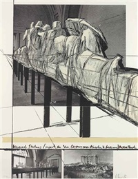 wrapped statues, project for die glyptothek, müchen by christo and jeanne-claude