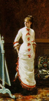 zesty party dress by pierre paul léon glaize
