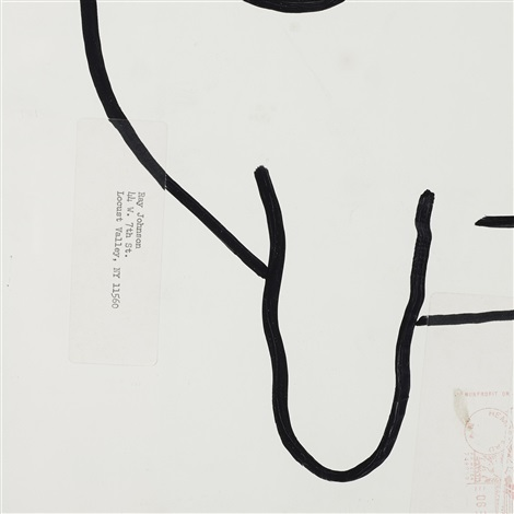 untitled (bunny) by ray johnson