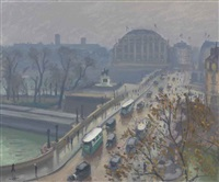 le pont neuf à paris by albert marquet