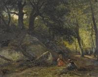 enfants sous bois by nicolas renie