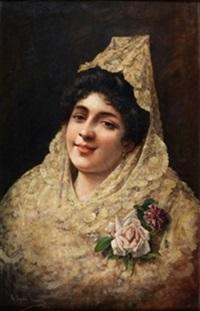 dama con mantilla by adolfe de aguila pimentel