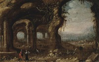 old testament scene by rombout van troyen