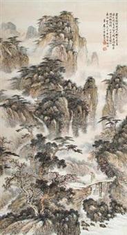 松溪访友图 by pei zhu'an