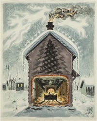 dreaming of christmas by charles ephraim burchfield