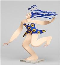 kvinna med blått hår by timo solin