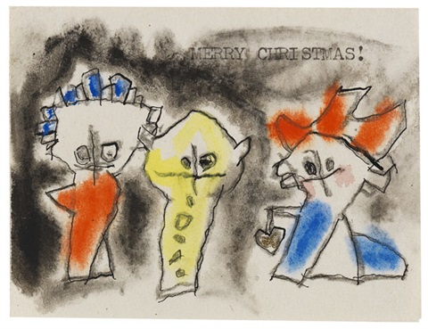 merry christmas ghosties by lyonel feininger