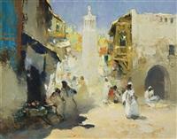straattafereel marokko (street scene morocco) by gerard adolfs
