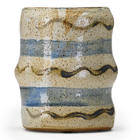early vase with stripes by peter voulkos