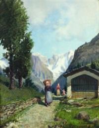 courmayeur - catena monte bianco by licinio campagnari