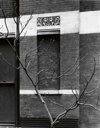 façade, john borden house, chicago by aaron siskind