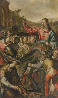 christ's entry into jerusalem by andrea boscoli