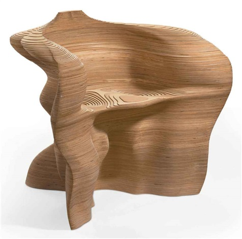 slice armchair by mathias bengtsson