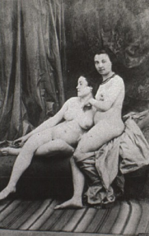 nude study of 2 women by joseph auguste belloc