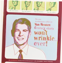 van heusen (ronald reagan) (from ads) by andy warhol
