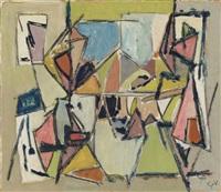 composition (personnages autour d'une table) by geer van velde