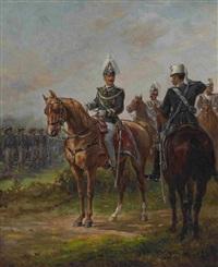 könig viktor emanuel iii. von italien bei der parade by oliver pichat