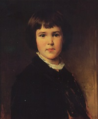 portrait of the artist's son gustav by heinrich von angeli