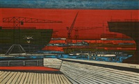chantier naval à hoboken by gustave camus