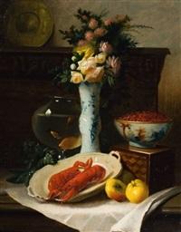 nature morte à l'homard by edouard van den bosch