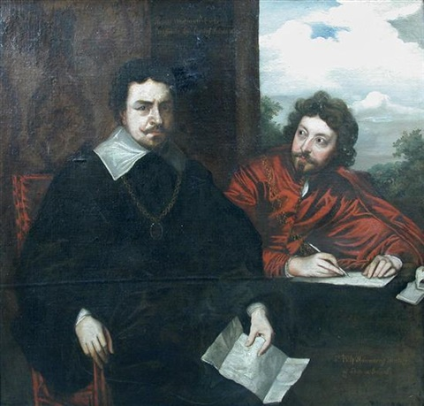 portrait of thomas wentworth 1st earl of strafford with his secretary sir philip mainwaring by sir anthony van dyck