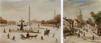 fountain, paris (+ rue de l'abreuvar, montmarte, paris; 2 works) by jean fous