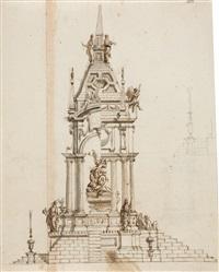 ansicht eines monuments zum ruhme eines fürsten by giuseppe jarmorini