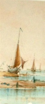 beached fishing boat by richmond markes